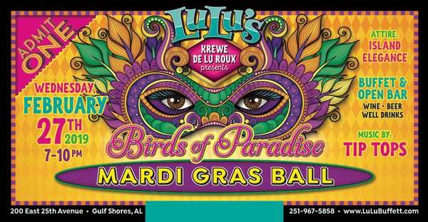 2019 MARDI GRAS TICKETS