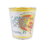 Crazy Sista Plastic Shot Glass