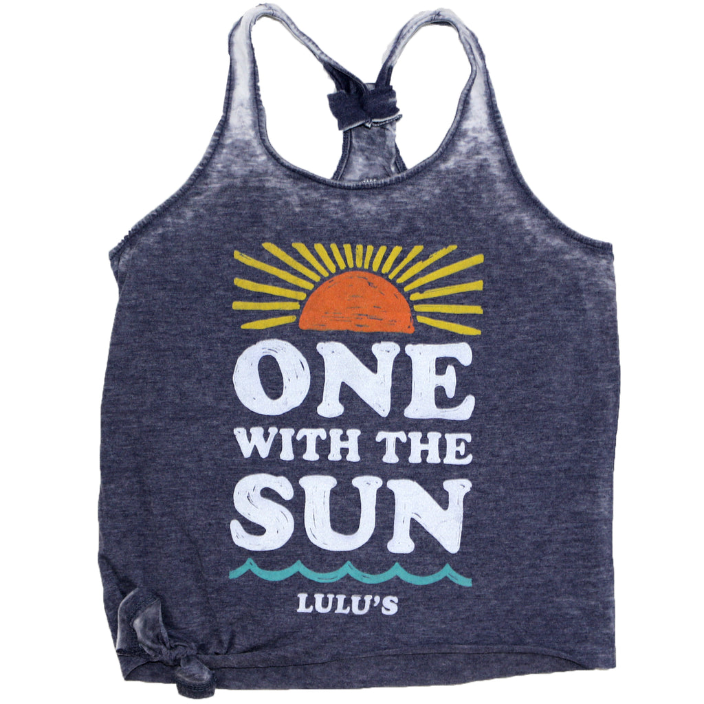 One With the Sun Side-Tie Tank