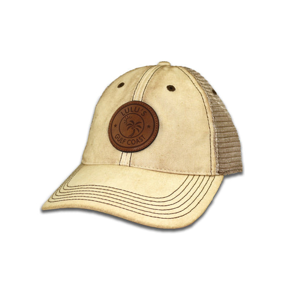 LEATHER PALM CIRCLE TRUCKER