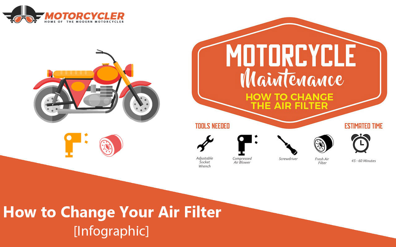 How to Change Your Motorcycle Air Filter [Infographic]