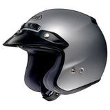 Shoei RJ PLATINUM R LT SILVER Open-Face Helmet