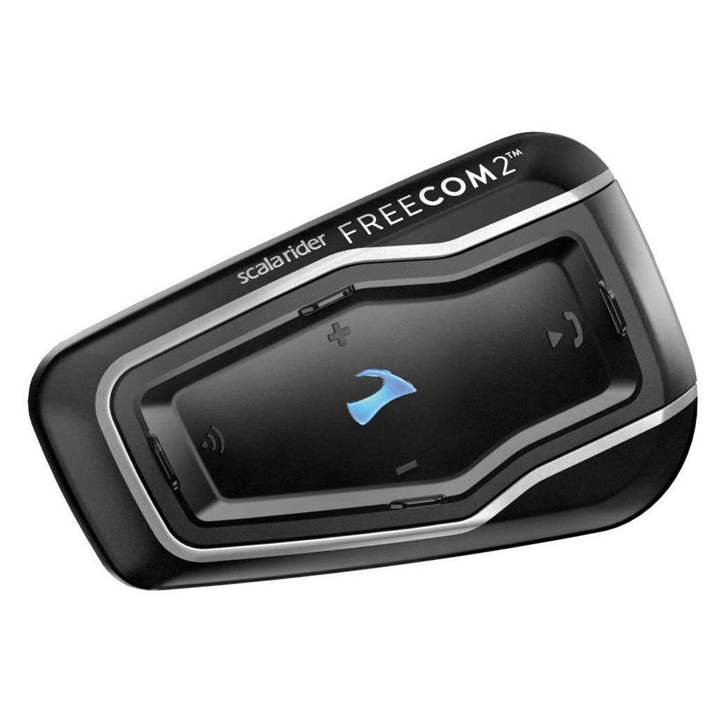Cardo Scala Rider Freecom 2 - Rider To Passenger Bluetooth 4.1 Motorcycle Communication System With HD Audio (Single Pack)
