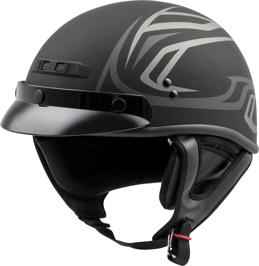 GMAX GM-35 Derk Full Dressed Half Helmet