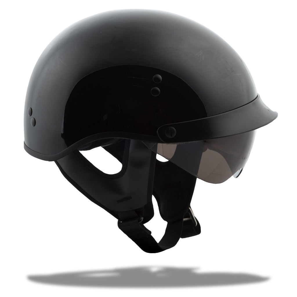 GMAX GM-65 Solid Full Dressed Half Helmet