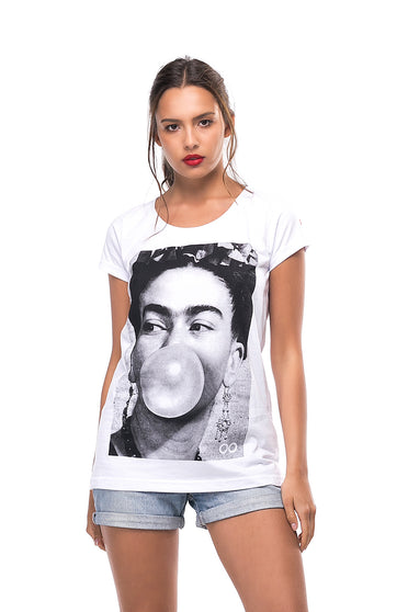 Camiseta Lost Portraits Frida Kahlo
