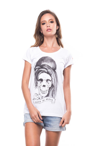 Camiseta Skull Amy Winehouse