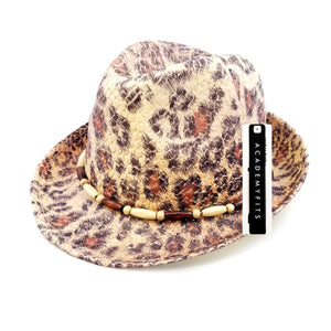 Patterned Fedora Straw Hat #SS16208