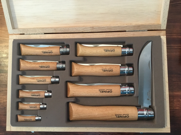 Opinel 10 Piece Set Stainless