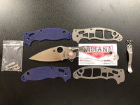Spyderco S110V Manix 2 With Aftermarket Clear Scales