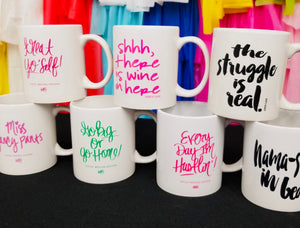 """Stay at Home""  Mugs"