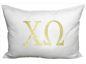Sorority Gold and White Pillow- Rectangle