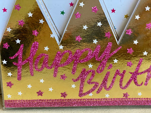 Birthday Party Crowns- set of 6