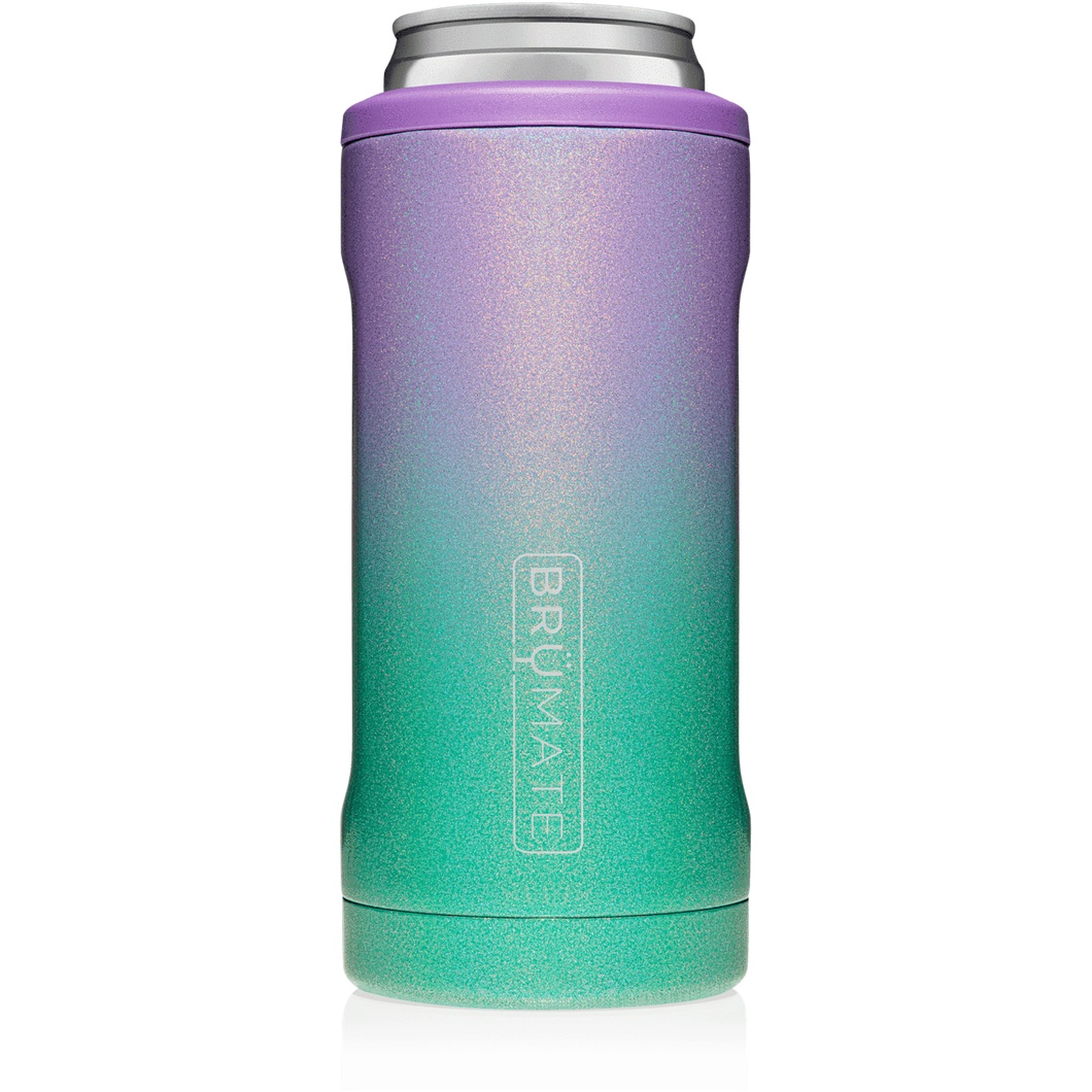 Brumate Hopsulator Slim- Glitter Mermaid