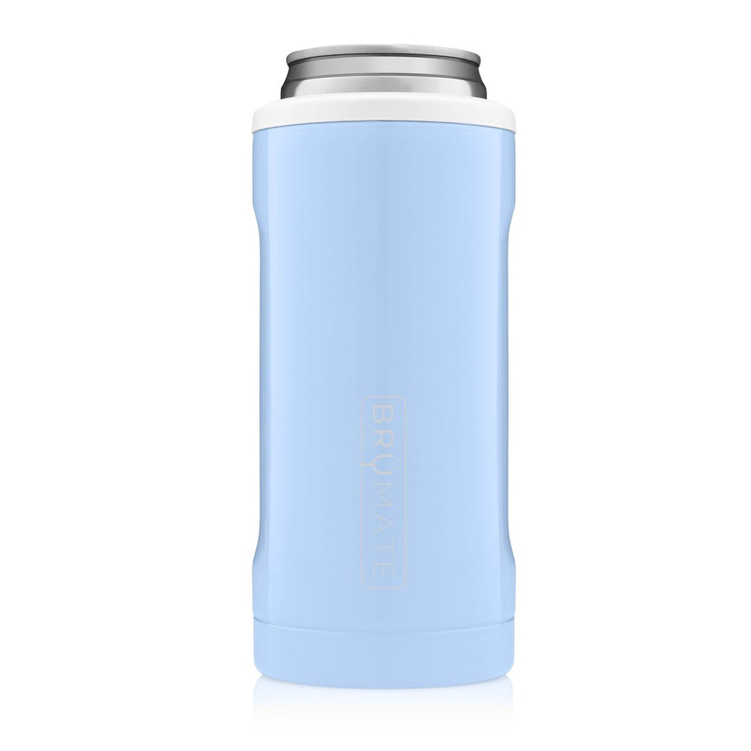 Brumate Hopsulator Slim- Baby blue & White