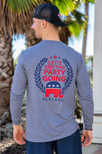 """Keep the party going""  long sleeved tee"
