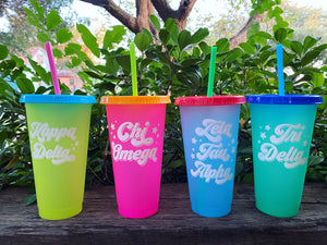 Color Changing Sorority Cup