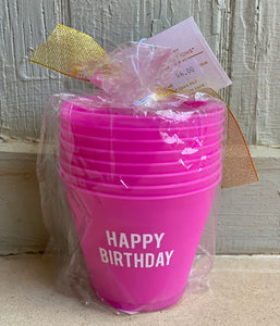 Birthday Cocktail Party Cups