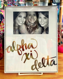 Gold Script Sorority Frame