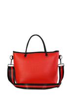 "Haute Shore- ""Ryan"" Red Hot Neoprene mini tote"