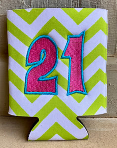 """21st Birthday Party in a Box"" gift box"
