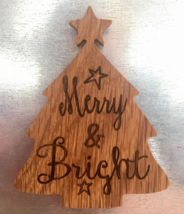 """Merry & Bright"" Tree Magnet"