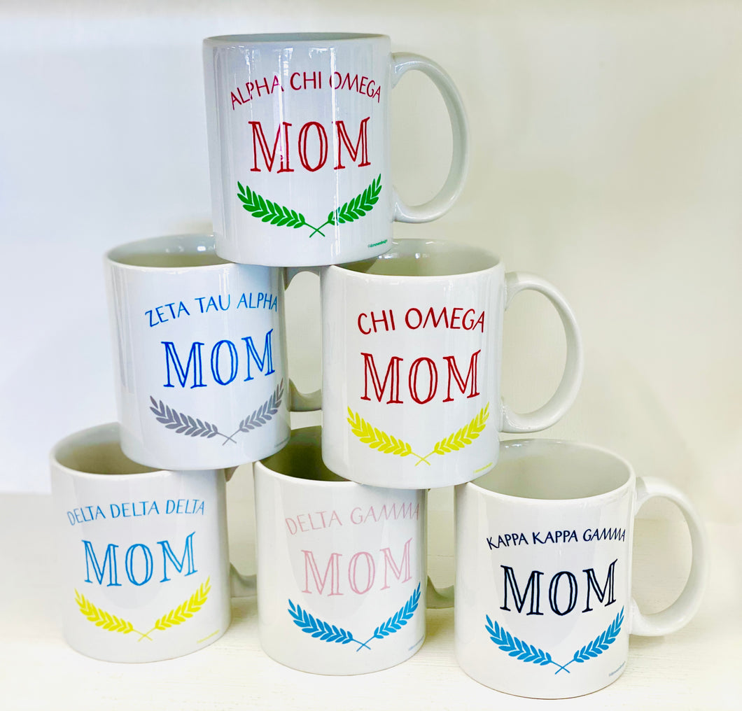 Sorority Mom Mugs- Ceramic