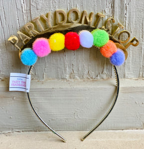 "Packed Party- ""Party Don't Stop"" Headband"