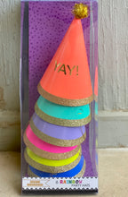 """Yay"" Neon party hats"