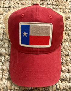Texas Flag Hat- Red