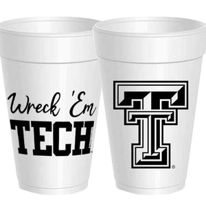Texas Tech 16 oz. styrofoam cups