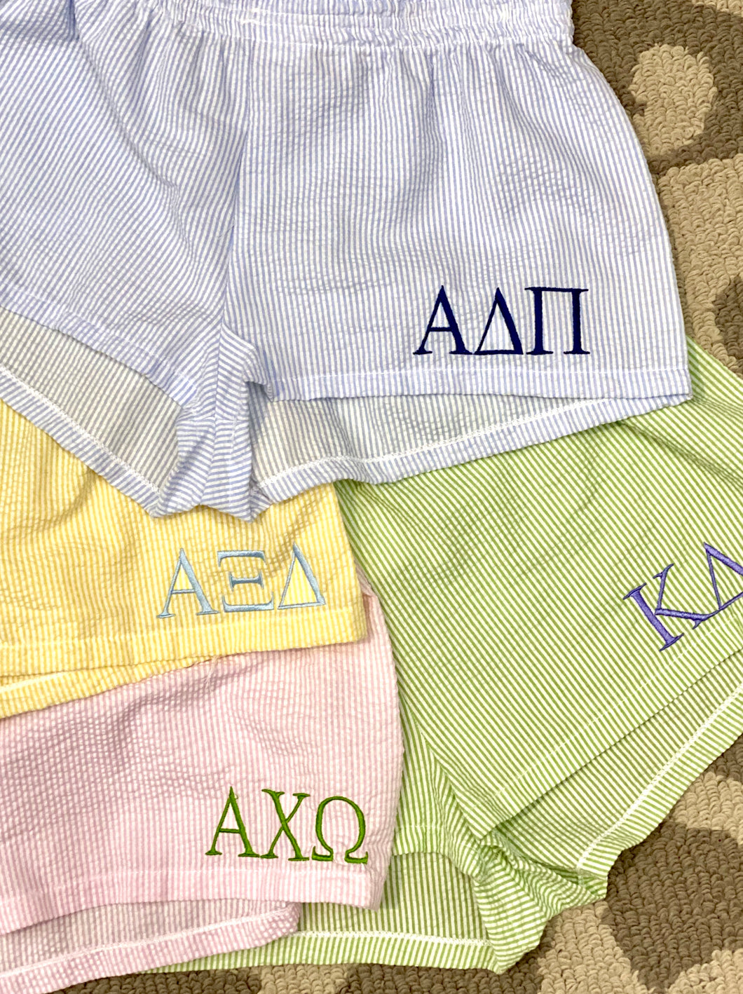 Seersucker Sorority Boxers