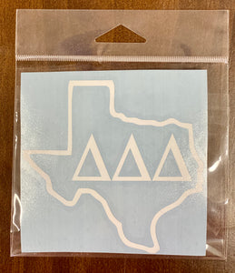 Texas Sorority Sticker- 5""
