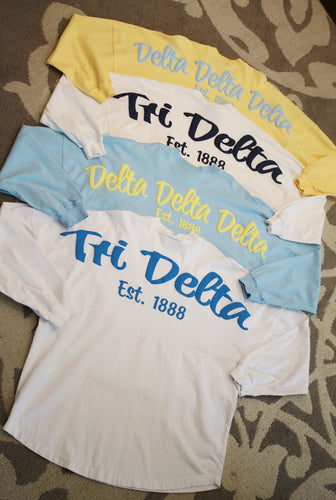 Delta Delta Delta Long Sleeved Spirit Jersey