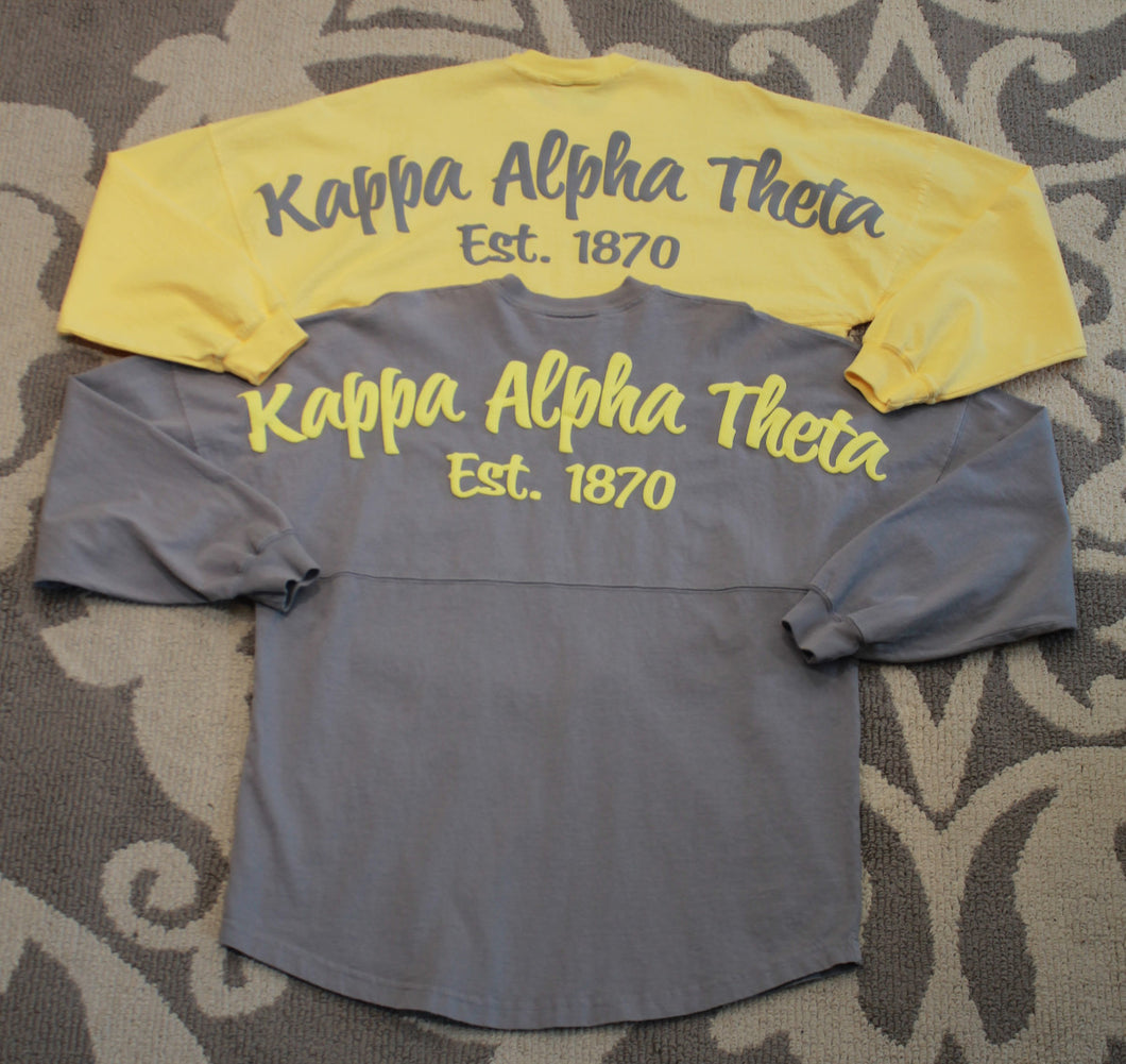 Kappa Alpha Theta Long Sleeved Spirit Jersey