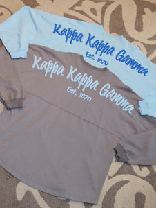 Kappa Kappa Gamma Long Sleeved Spirit Jersey