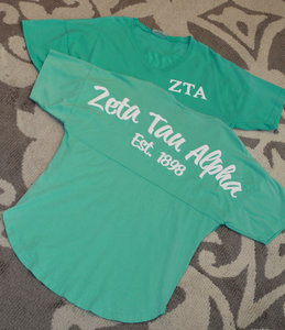Zeta Tau Alpha Short Sleeved Spirit Jersey