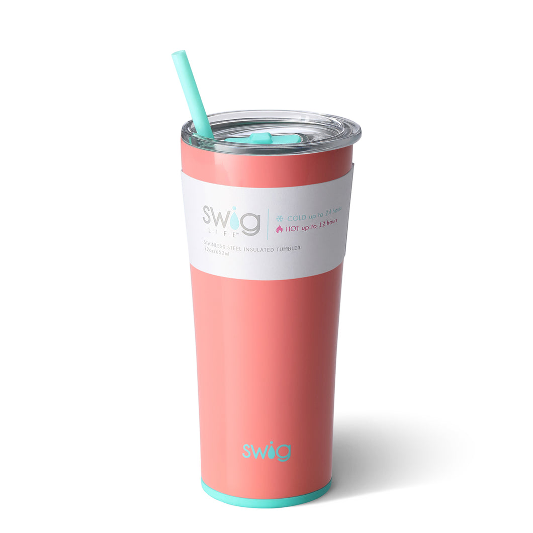 Swig 22 oz. straw cup- Melon