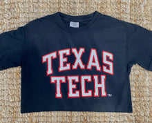 "Texas Tech crop tee ""The Matador""- Black"