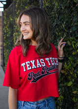 "Texas Tech crop tee ""7th Inning Stretch""- Red"
