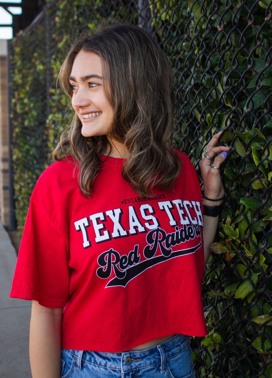 Texas Tech crop tee