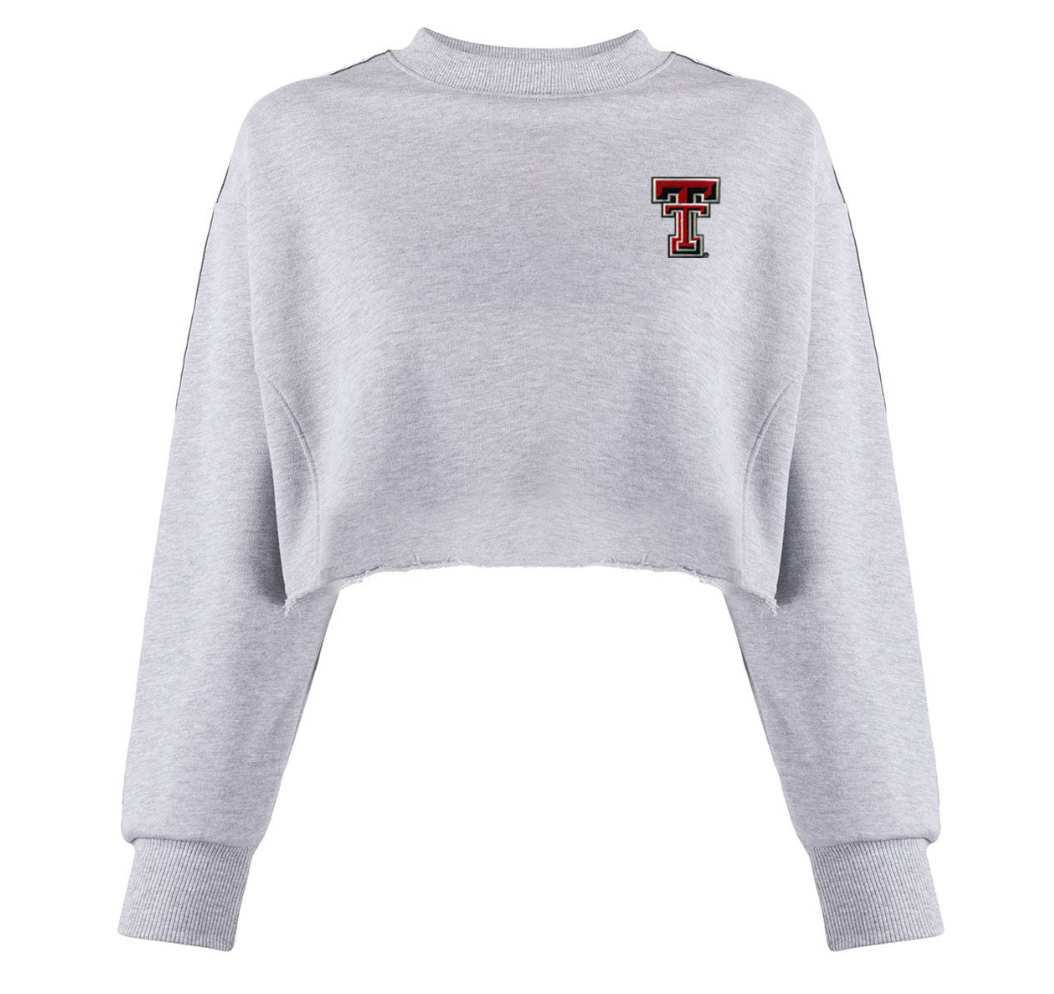Texas Tech cropped sweatshirt- Vintage Patch Double T