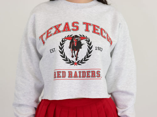 Vintage Texas Tech cropped sweatshirt