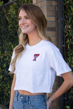 "Texas Tech crop tee ""Double T""- White"