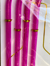 Wine Bottle Straws- Pink