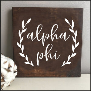 Wooden Sorority Sign