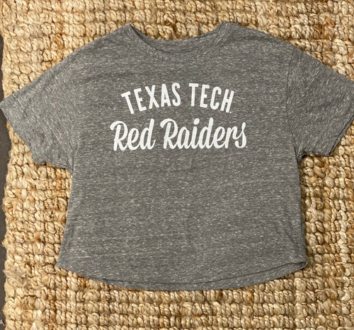 "Texas Tech ""Alma Mater"" crop tee"