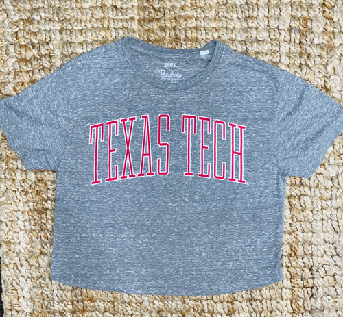 """Texas Tech"" Cropped T-Shirt"