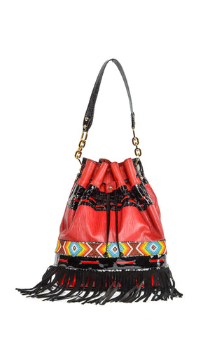 Wananpur - Bucket Bag Red