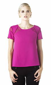 Melao - Geometric Top Magenta